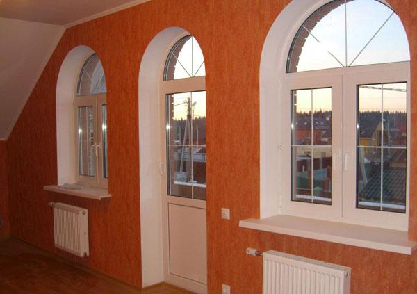 арочные откосы на окна